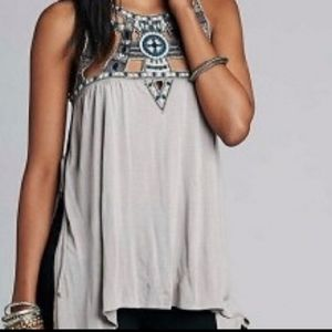 Free People Vision Quest Embellished Tank Tunic
